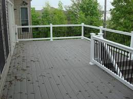 composite deck gray with white composite decking deck ideas