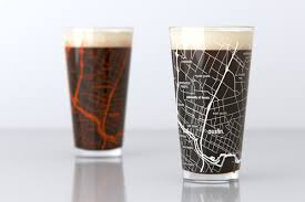 Austin Marathon Map by Pint Glasses Theuncommongreen