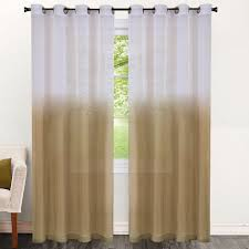 Ombre Sheer Curtains Two Tone Ombre 84 Inch Sheer Curtain Panel 52 X 84 Free