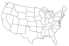 United States Map Quiz by 50 States Clipart 44