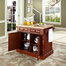 crosley butcher block kitchen island by oj commerce kf30006bk