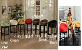 Wooden Bar Stool With Back Solid Wood Egg Low Back Bar Stool Leather Cushion Round Top Wooden