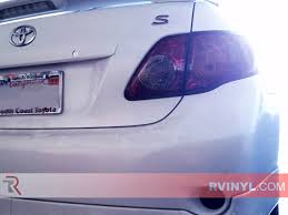 tail light tint installation rtint toyota corolla 2009 2010 tail light tint film