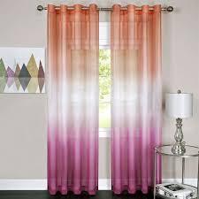Sheer Grommet Curtains Sangria Rainbow Semi Sheer Ombre Grommet Curtain Panels
