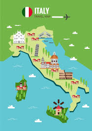 italy map italy map background vector premium