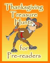 thanksgiving treasure hunt thanksgiving treasure hunts for pre readers