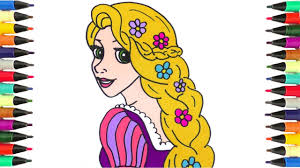 coloring pages drawing coloring rapunzel disney princess