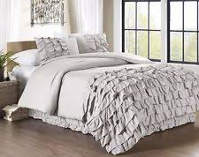 chezmoi collection 3 piece ella waterfall ruffle duvet cover set
