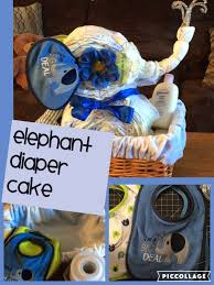 elephant diaper cake animal theme baby shower cake by crafty