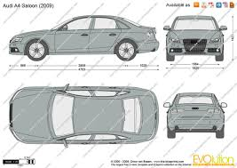 2010 audi a4 features the blueprints com vector drawing audi a4 saloon