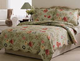 Twin Quilts And Coverlets Quilts Edens Garden Floral Quilt Bedspread And Pillow Shams