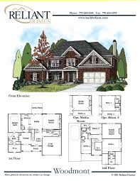 sle floor plans 2 story home reliant homes the woodmont plan floor plans homes homes for