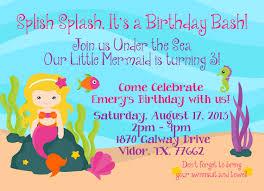 mermaid custom invitation pool party for splish splash