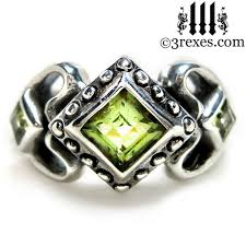 Gothic Wedding Rings by Size 6 Silver Gothic Wedding Rings 3 Rexes Jewelry