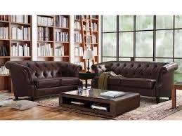 canapé chesterfield cuir vieilli canapé et fauteuil en microfibre chocolat aquitaine