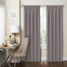 eclipse blackout wallace 95 in l silver rod pocket curtain 1