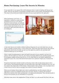 home purchasing learn the secrets in minutes by corey4tate9