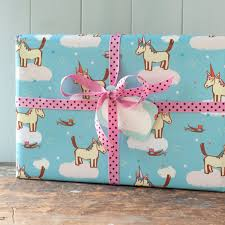 unicorn gift wrap wrapping paper for birthday for