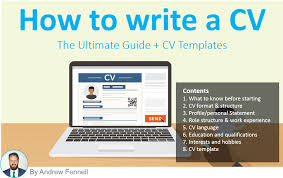 write my cv how to write a cv the ultimate guide cv template