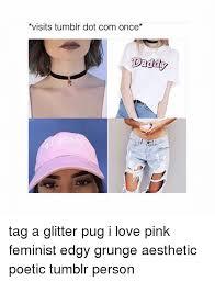 Love Memes Tumblr - visits tumblr dot com once dadd tag a glitter pug i love pink