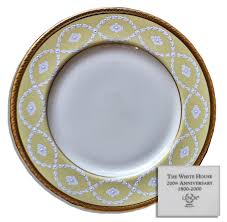lot detail bill clinton white house china entree plate by