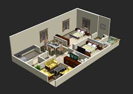 marvellous home plan 3d 2bhk gallery best inspiration home