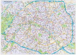 Map Paris France by Paris City Map Style 2 In Illustrator Cs Or Pdf Format M To R