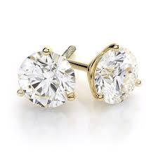 gold diamond stud earrings certified diamond stud earrings 4 carat brilliant cut