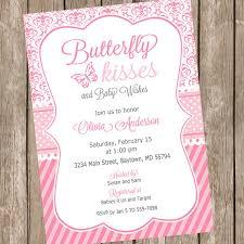butterfly baby shower butterfly baby shower invitations butterfly kisses ba shower