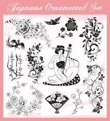 japanese styles ornaments design vector set 02 vector ornament