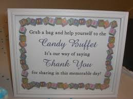Baby Shower Candy Buffet Sign by 27 Best Baby Shower Ideas Images On Pinterest Baby Shower Candy