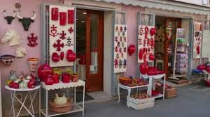 gift shop with traditional souvenirs at the masks