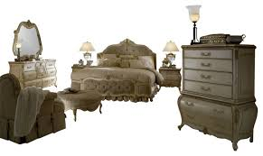 Victorian Bed Set by Lavelle Blanc 4 Piece Queen Size Mansion Tufted Bedroom Set