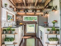 Interior Design Images For Home by Tricked Out Tiny Home Features Garage Door And Custom Deck Curbed