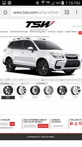 white subaru forester black rims 14 u002718 sj fxt wheel tire fitment information page 11 subaru