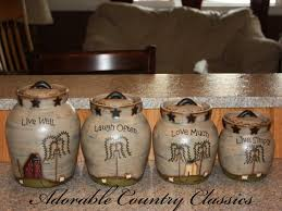 kitchen ceramic canisters adorable country classics primitive kitchen canisters ceramic