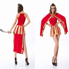 Halloween Costumes Greek Goddess 2017 Halloween Costume Greek Goddess Dress Egyptian Queen Red Arab