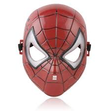Halloween Costumes Led Lights by Amazon Com Party Led Light Spiderman Face Mask For Children