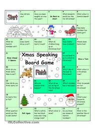 with this easy christmas speaking board game young learners will