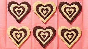 thanksgiving chocolates dark and white chocolate shortbread hearts