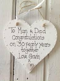 30 anniversary gift pearl anniversary personalised keepsake heart 30th anniversary