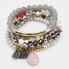 bead bracelet charm images Multi color and charm bead bracelet gf1