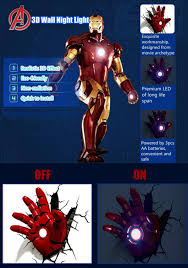 Iron Man Night Light Iron Man Hand Wall Light 54775 Astonbkk Com