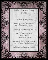 gothic dinner party u2014 chic party ideas