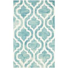 Teal Area Rug Moroccanturquoise Ivory Area Rug