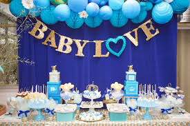 Blue And Gold Baby Shower Decorations by Royal Baby Shower U2014 Lovelyfest Event Design