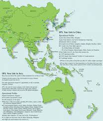 United Route Map United Parcel Service Route Map Asia Pacific