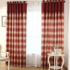 Country Curtains Simple Plaid Country Curtains Linen And Cotton