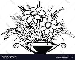 Black And White Vases Flower Vase Clipart Black And White Free Flower Vase Clipart