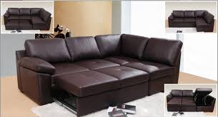 Most Comfortable Leather Sofa Form Corner Leather Sofa 3 Seater Pull Out Bed Chaise Brown Color